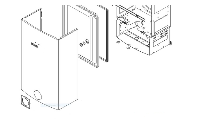 نحوه باز و بسته کردن اجزای آبگرم کن دیواری جهت عیب یابی